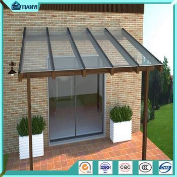 Euro Design Economic Aluminum Frame French Style Window And Door With Side Half Round Awning