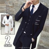 3 piece mens slim fit suits 2017