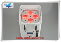 Smartphone apple/Android app control 4x12w led rgbwa uv 6 in 1 Battery led par can wireless lighting
