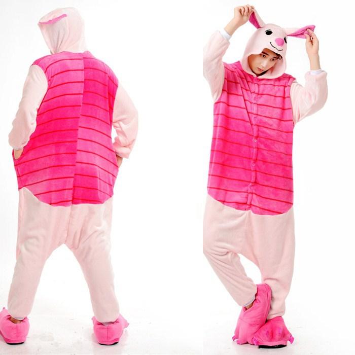 788b6fc78e Get Quotations · Cute Piglet Animal Onesies Pajamas For Adult Cute Women s  One Piece Onesies Pajamas Hooded Onesies