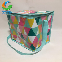 Disposable non woven cooler tote bag/new style insulated promotion wine cooler bag