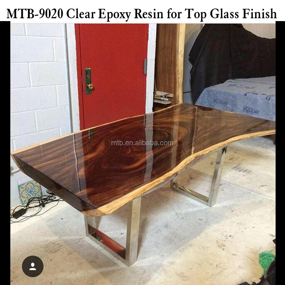 Peinture Résine Pour Meuble En Bois finition de table en bois finition verre résine Époxy et durcisseur - buy  bonne transparence revêtement en résine Époxy pour dessus de table en