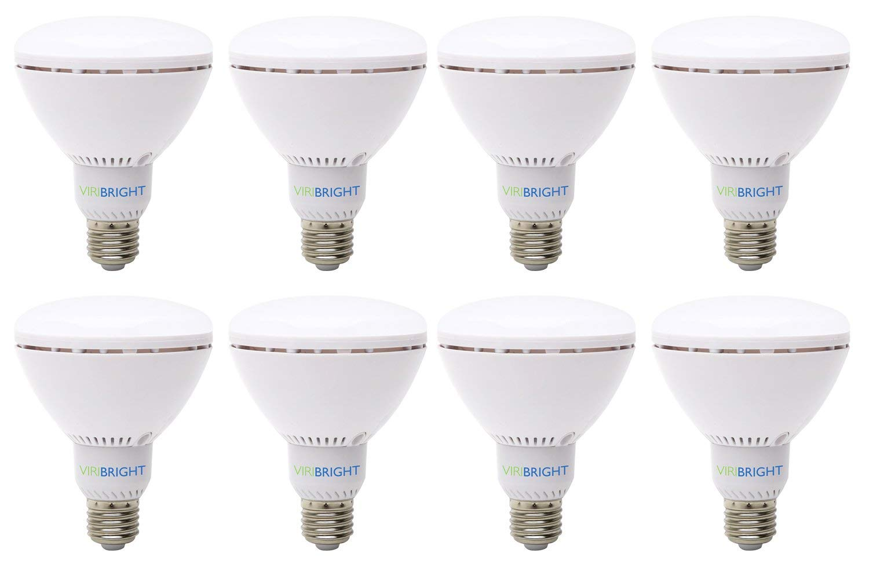 65 Watt Replacement BR30, LED Light Bulb, 8 pack, Daylight, Dimmable E26 Edison Base, 90+ CRI