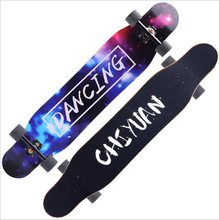 118 см четырехколесный скейтборд кисть для начинающих уличная длинная доска для взрослых мальчиков и девочек профессиональная доска для тан...(Китай)