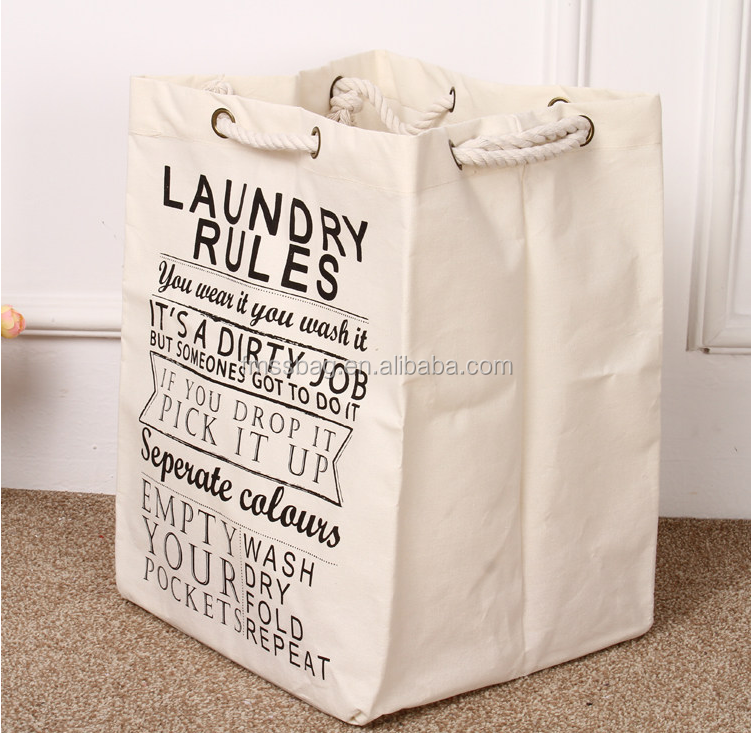 Rope handle Grocery organic Cotton tote shopping Bag With Metal Garment