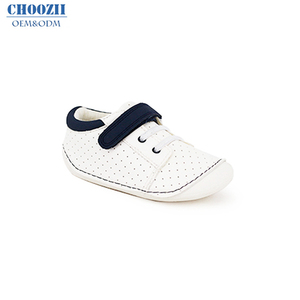 Choozii Wholesale Causal White Canvas Hard Sole Walking Toddler Shoes Baby