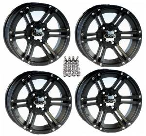 "ITP SS212 ATV Wheels/Rims Black 14"" Honda Foreman Rancher SRA"