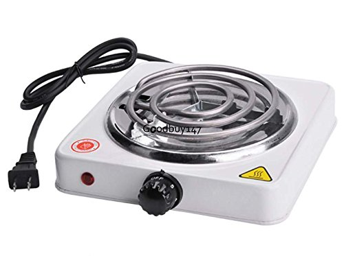 Cooktops Single Electric Burner Portable Hot Plate Stove Camping Cook Dorm RV Countertop Electric Kitchen Stove