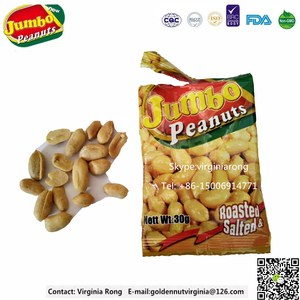hot sale roasted and salted peanut made in China packed in plastic bag 30g