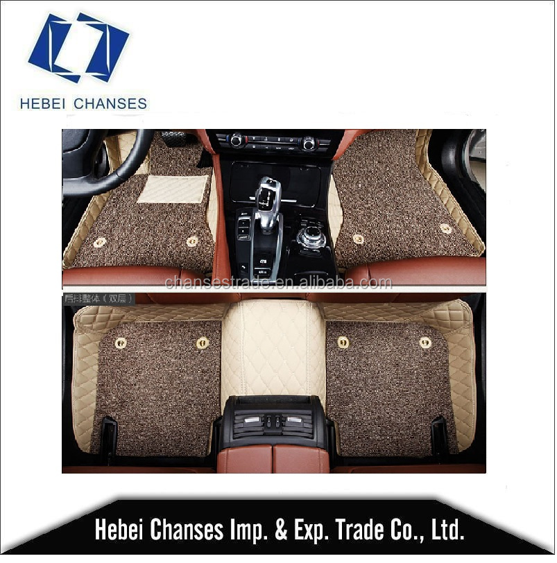 2017 Wholesale pu leather non skid car mats China supplier EVA/XPE material 5D CAR FLOOR MAT