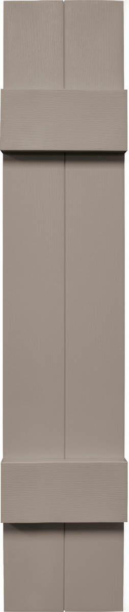 """Mid America VJB&B7109C Joint Board & Batten Two Board Vinyl Shutter,, 109"""" x 7"""",, Clay"""