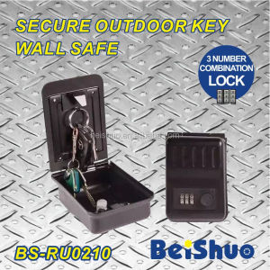 BS-RU0210 three number combination lock secure outdoor wall mount key safe