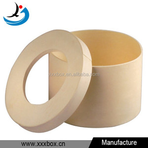 Round hat box packaging wholesale custom printed wooden hat box
