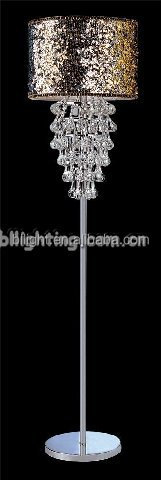 Good selling crystal home decorative floor lamp