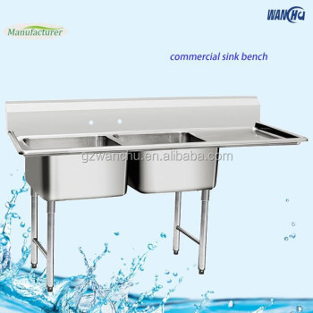 commercial restaurant kitchen stainless steel double sink