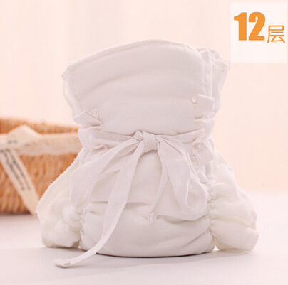 5pcs/lot Baby 12 layer gauze diaper breathable newborn baby cloth diaper pants baby care product free shipping