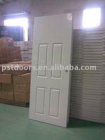 pine wood edge 4 panel steel doors, prepainted steel doors