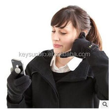 New touchscreen acrylic bluetooth gloves hello talking gloves hi call oem music gloves