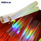 17Mic Metallized and Transparent Holographic Film Bopp Hologram Cold Laminating Film Roll