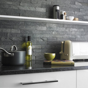 Silver Grey Stacked Stone Ledger Tiles for Kitchen