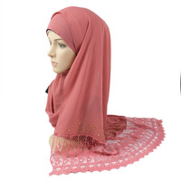 New design wholesale Fashion muslim women Hijab Hot selling Mayasia Chiffon scarf of 20 colors for women