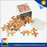 Customized full color printing cardboard sublimation paper jigsaw puzzle game for children
