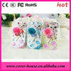rhinestone bling hard case for iPhone 5 4 4S with beauty fox design