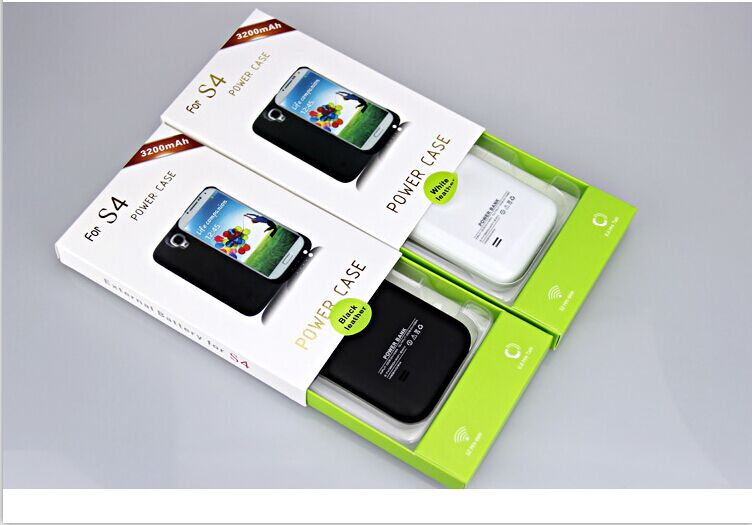 New amazon hot selling 3200mAh External backup Battery Case For Samsung Galaxy S4
