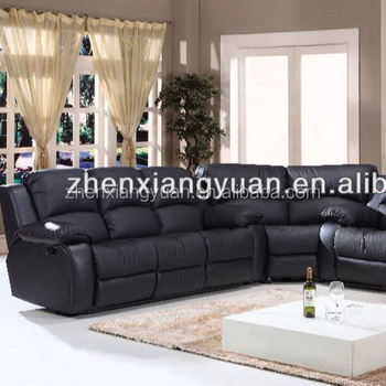 2019 Modern Leather Reclining Sectional Sofa Set Furniture Corner ...