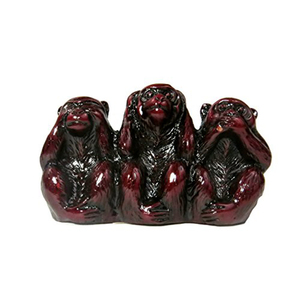 Handcrafted resin three wise monkeys statues collectible home decor sculpture