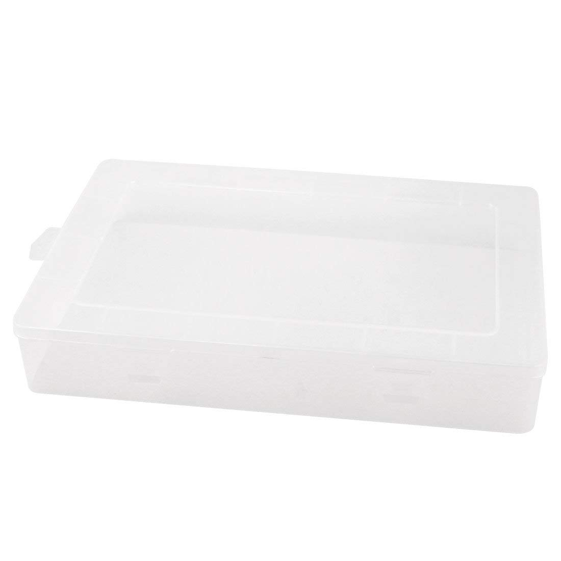 "Aexit Plastic Electronic Tool Organizers Components Storage Case Box Toolbox 13"" x Tool Boxes 9"" Clear"