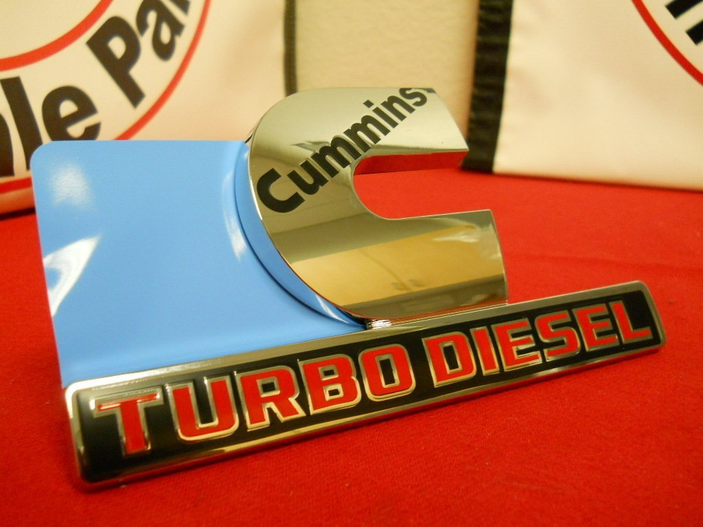 Dodge Ram 2500 3500 Chrome Cummins turbo diesel 3D nameplate badge decal Mopar