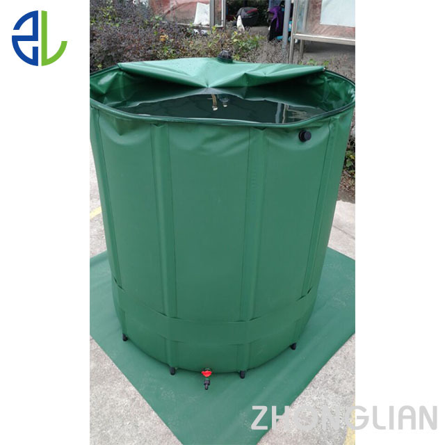 PVC flexible rain water barrel tank to storage rainwater for garden