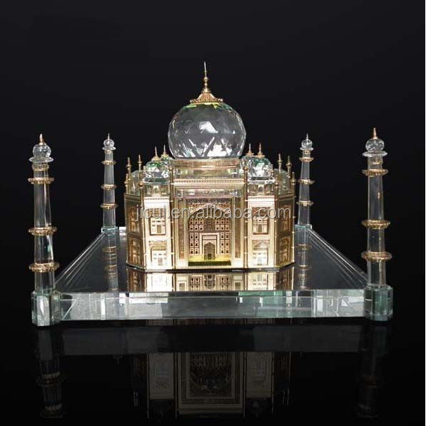 Crystal Taj Mahal Model With wooden base