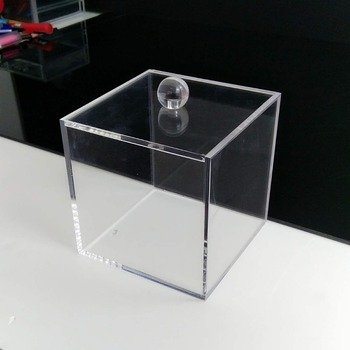 Clear Acrylic Square Candy Storage Cube Box