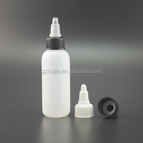 New Arrival 30ml White Twist Cap Empty Plastic Tattoo Ink bottle e liquid bottle