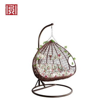 Eco Friendly Protection Steel Pipe Double Rattan Indoor Swing Hanging Egg Chair View Egg Chair Hanging Bd Product Details From Jilin Province Baiding Trade Co Ltd On Alibaba Com