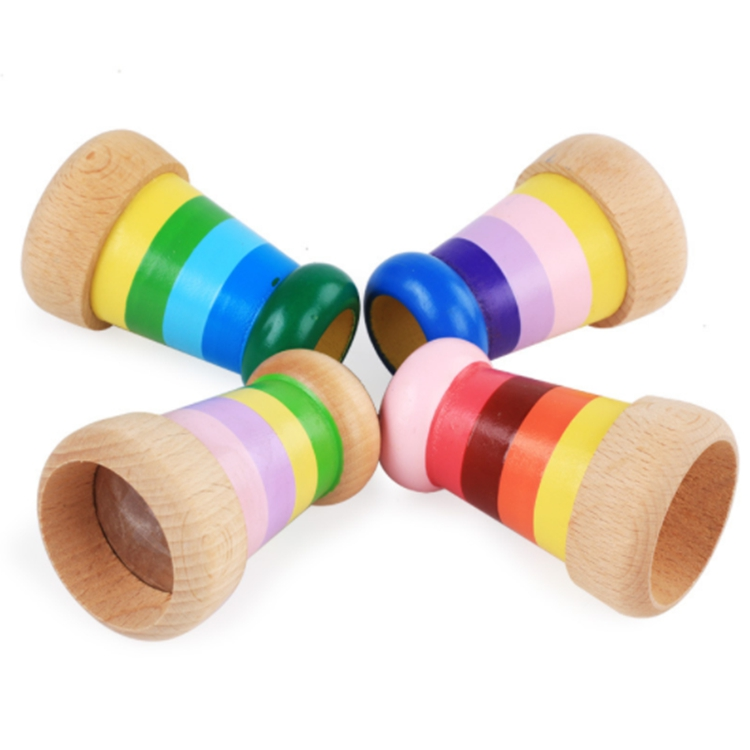 Classic Kids Toy Traditional Preschool Wooden Colorful Kaleidoscope Toy