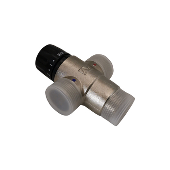 Modern brass rotary temperature control small mixing valve