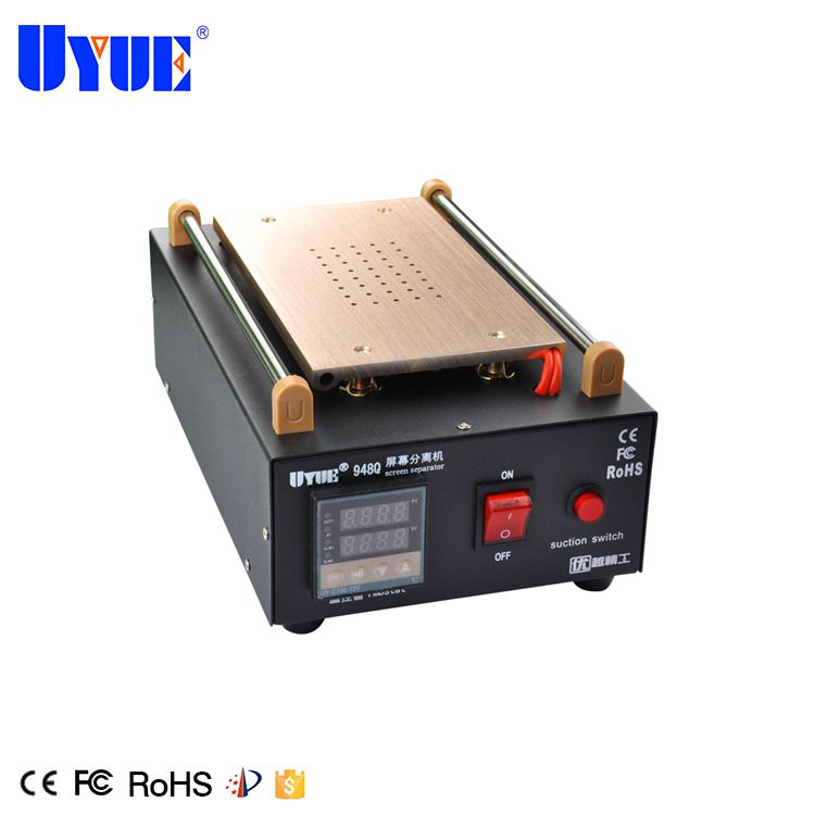 100m Cutting Grade Products According To Quality Soldering Stations Hottest Uyue 948q Built-in Vacuum Pump Mobile Phone Lcd Screen Separator Machine Max 7 Inches Lens Glass Repair Tools
