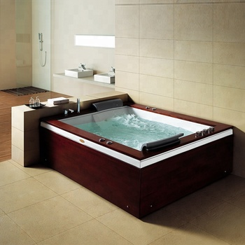 2 Person Freestanding Tub.Bs 60502c Italy Freestanding Large 2 Person Luxurious Wooden Panel Whirlpool Bathtub Massage Bath Tub Buy Freestanding Bathtub Large Bathtub Massage