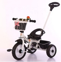 New arrival folding baby tricycle/kids push tricycle wholesale/Kids Metal Tricycle for sale