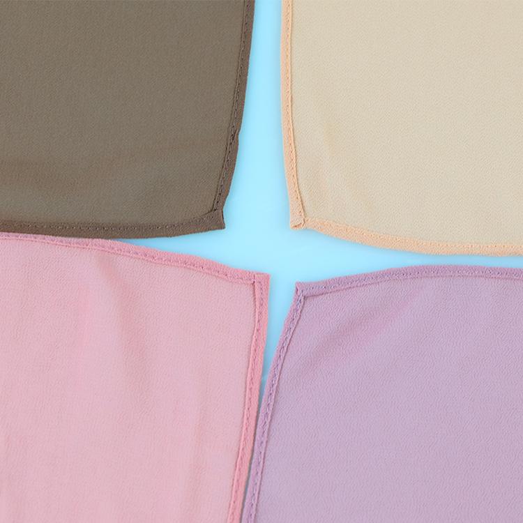 卸売プレーンジョーゼットスカーフ厚いバブル重いシフォンヒジャーブイスラム教徒のボロンチュダン女性ショール