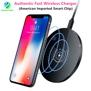For Samsung and iphone Fast Wireless Charger with American IC Chip, Superior Quality and 9V Stable Voltage