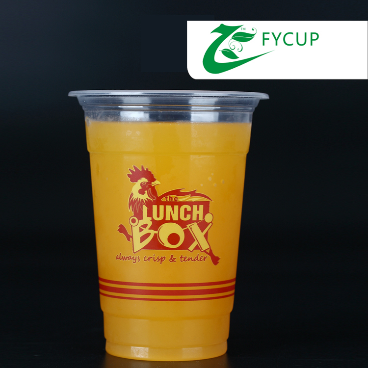 Food-Grade PP Materia 16ozl Disposable Plastic Cup plastic bubble tea cups with logo