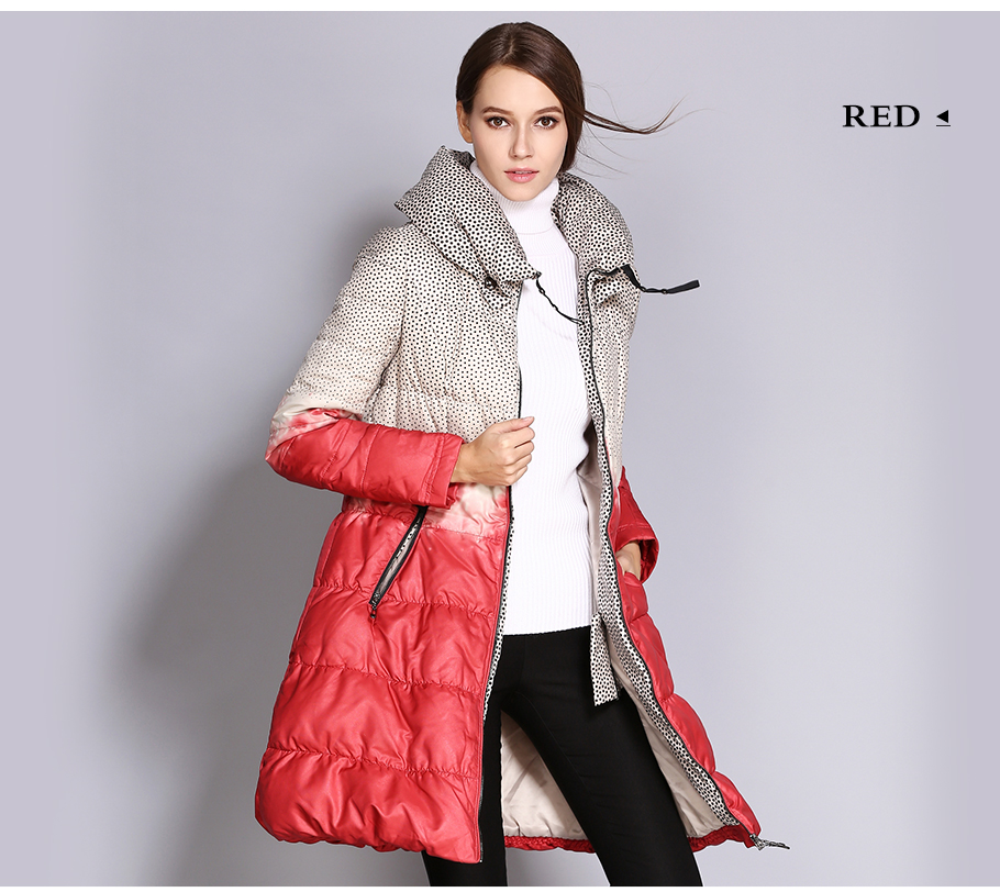 b6b1834007a COUTUDI Wholesale Women Down Jacket Big Size Long Printed Parkas Winter  Women `s Quilted Coat Outwear Clothing Duck Down Jackets