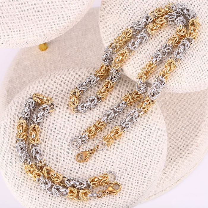 Hot selling in Africa necklace chain bracelet jewelry set for women