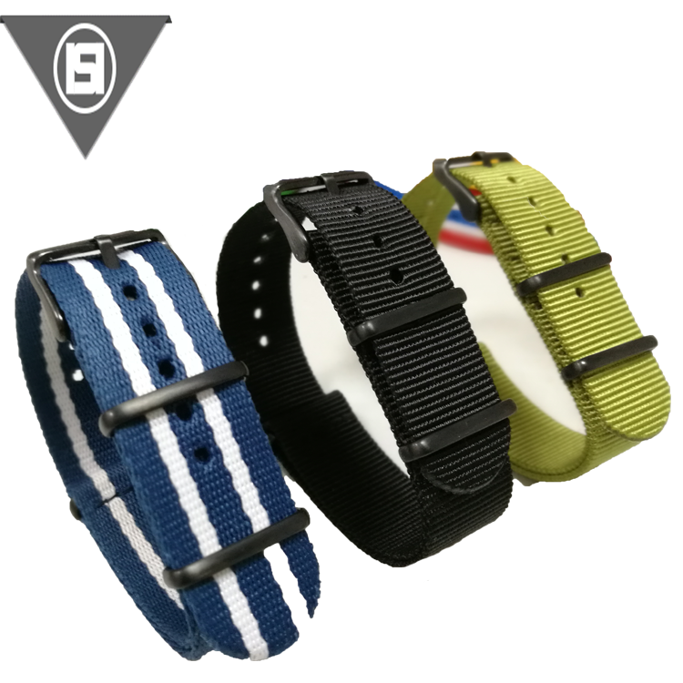 China Wholesale Custom Size And Color Nylon Woven Watch Band
