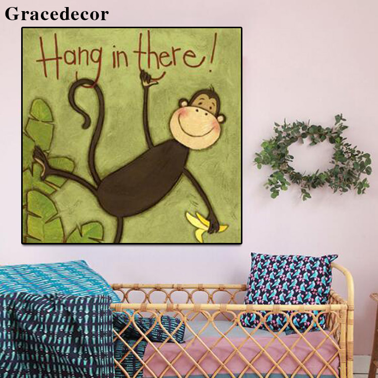 Cartoon Animal Sex Monkey Art Painting For Child Room - Buy Monkey ...
