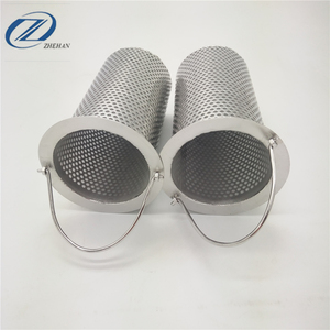 perforated round holes and stainless steel filter basket for food processing areas